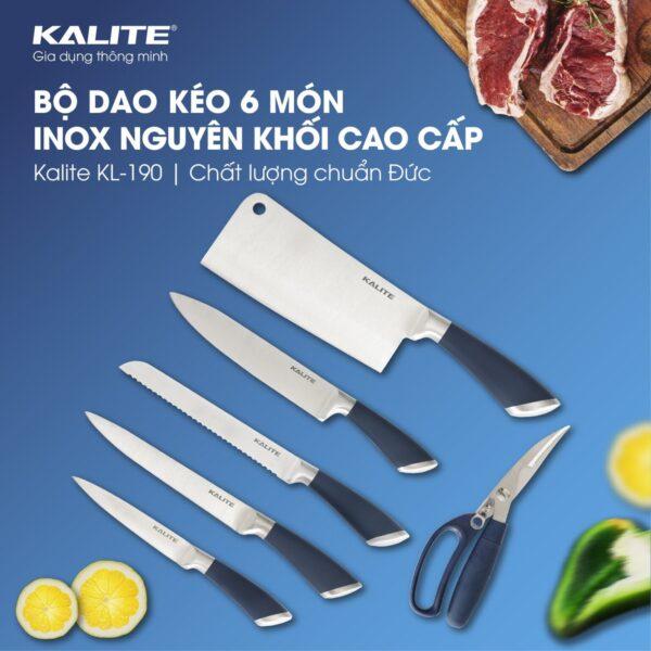 Bộ dao kéo inox 7 món Kalite KL 190 - KM Tặng Cân UN135 1
