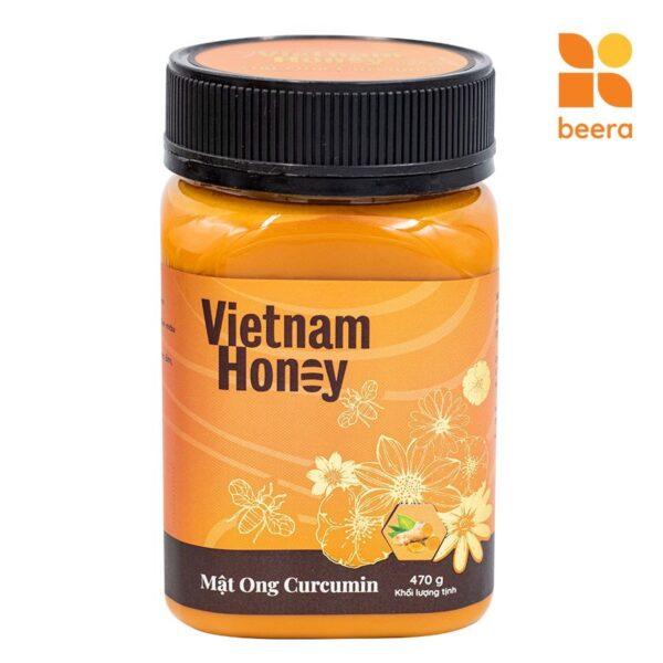 [BEERA] Mật Ong Tinh Nghệ Curcumin 470g - Vietnam Honey 1