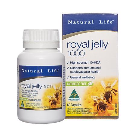[BEERA] Sữa Ong Chúa 1000mg 60 viên-NATURAL LIFE 1