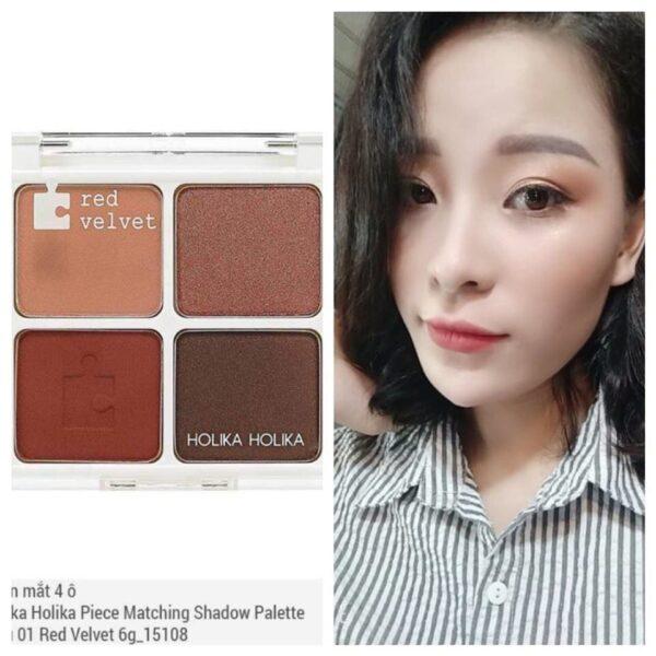 Phấn mắt 4 ô Holika Holika Piece Matching Shadow Palette màu 01 Red Velvet 6g_15108 1