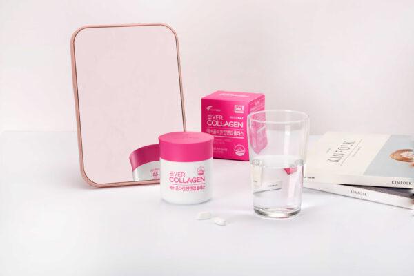 Set 2 hộp Viên uống phức hợp collagen đẹp da chống lão hóa Ever Collagen In&Up Plus 1