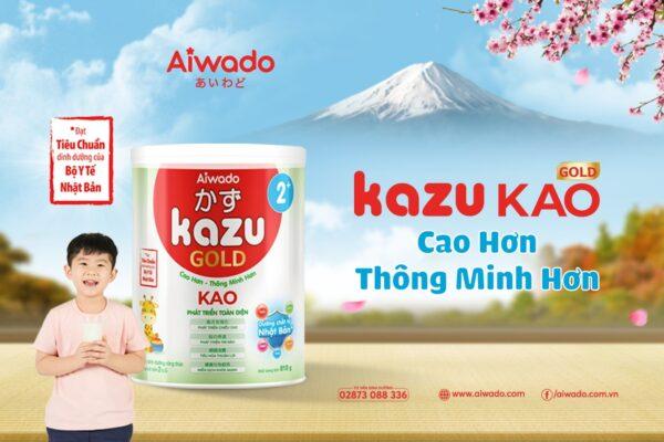 [AIWADO] Sữa bột Kazu Kao Gold 2+ 350g (từ 24 tháng trở lên) 1
