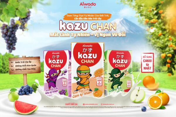 [AIWADO] Sữa trái cây Kazu Chan - Trái cây tổng hợp (thùng 48 hộp 110ml) (cho bé trên 1 tuổi) 1