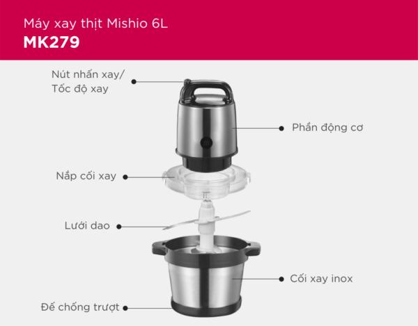 Máy Xay Thịt Mishio MK279 1
