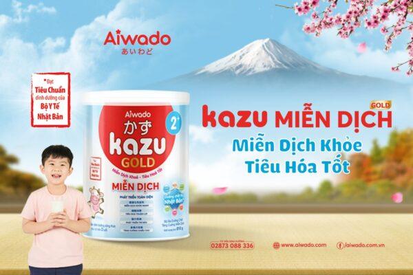 [AIWADO] Thùng sữa bột pha sẵn Kazu Miễn Dịch Gold 110ml - 48 hộp (cho bé trên 12 tháng tuổi) 1