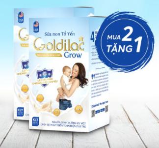 [Combo 3 Hộp] Sữa Non Tổ Yến Goldilac Grow Loại 14g 1