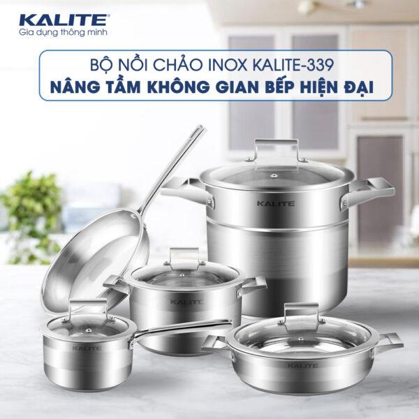 Bộ nồi inox Kalite KL-339- Tặng Cân UN 135 1
