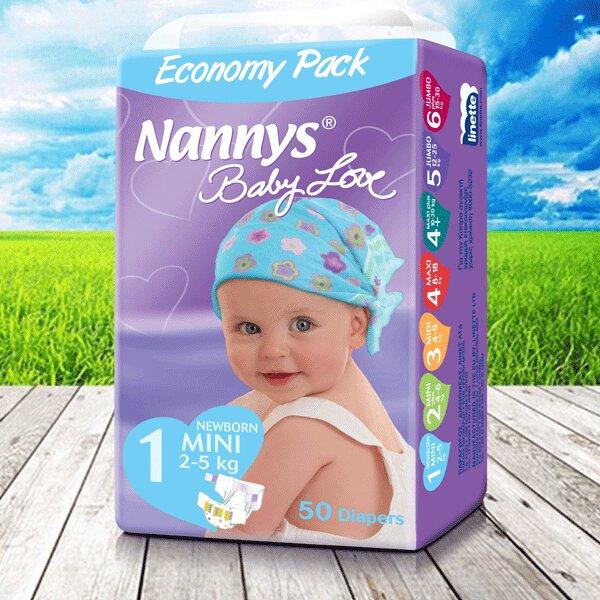 Tã dán Nannys Baby Love (Size S, 0- 5kg), 50 miếng 1