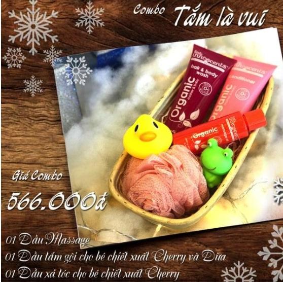 Bộ quà tặng Tắm Là Vui (3 sản phẩm: Dầu massage, dầu tắm gội và dầu xả tóc) 1