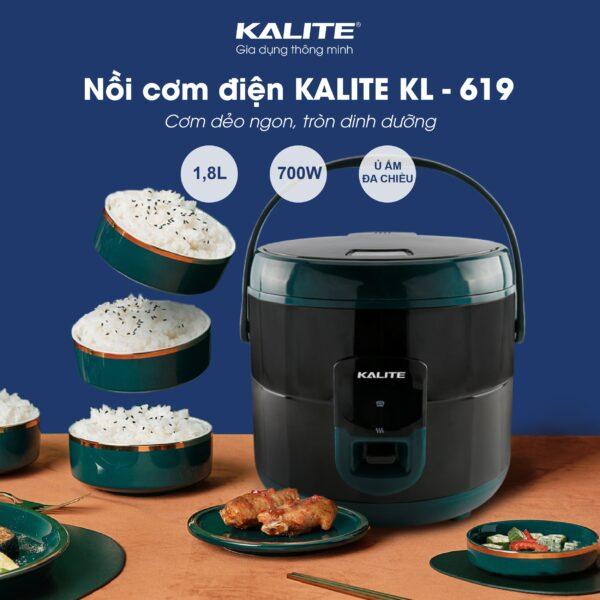 Nồi cơm điện KALITE KL-618 đa chức năng 1