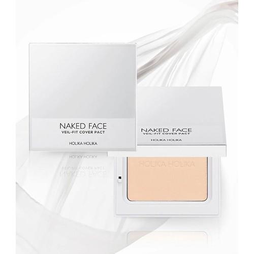 Phấn nén Holika Holika Naked Face Veil-Fit Cover Pact Light Beige 12g 1