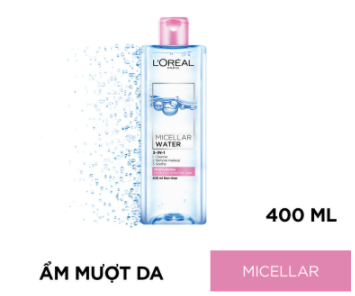 Nước tẩy trang Loreal Micellar Water 3-in-1 Refreshing Even For Sensitive Skin 400 1