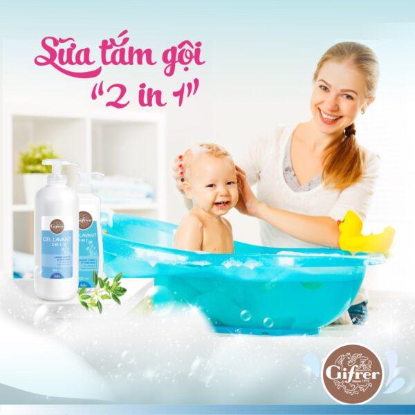 GIFRER - Sữa tắm GEL LAVANT 2 trong 1 - 500 ml 1