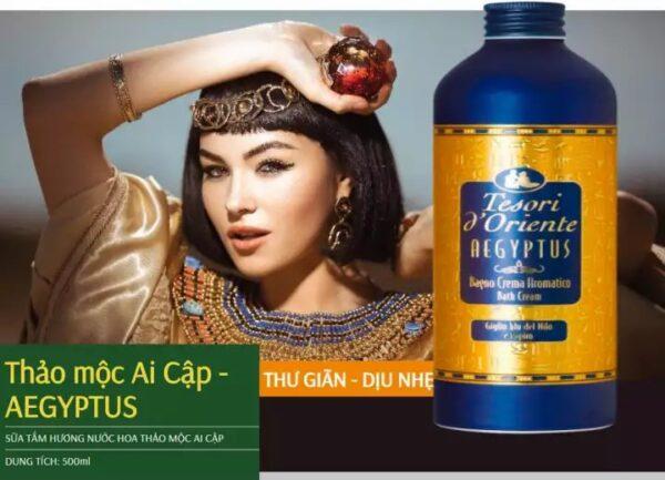 Sữa tắm nước hoa thảo mộc Ai Cập Tesori D' Oriente Aegyptus
