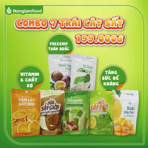Combo 7 Loại Trái Cây Sấy Tăng Sức Đề Kháng 325g - Nông Lâm Food 1