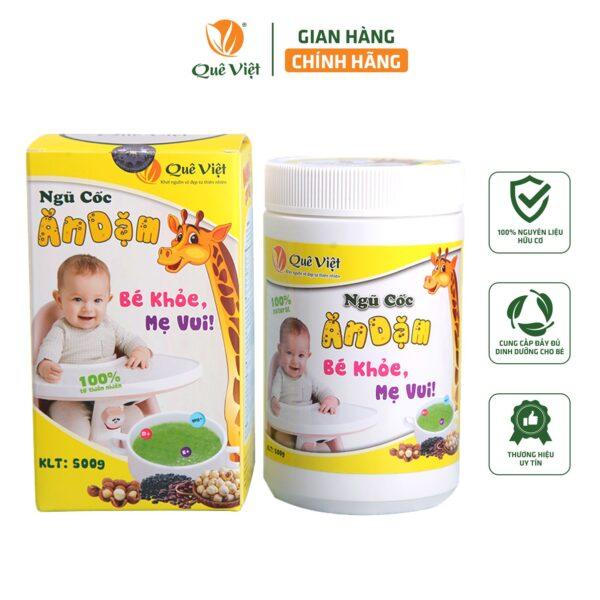 Ngũ Cốc Ăn Dặm Cho Bé Quê Việt - 500gr 1