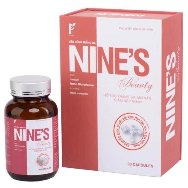 Combo 6 hộp viên uống trắng da Nine's Beauty (hộp 30 viên) 1