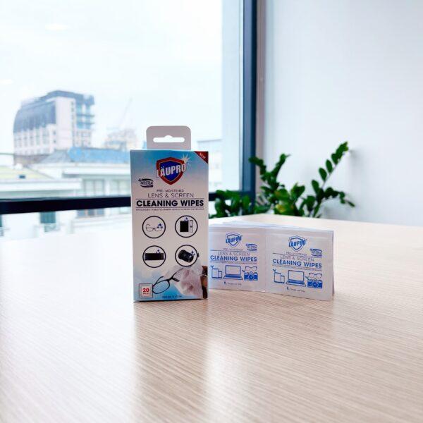 Giấy Ướt Làm Sạch Bề Mặt Dụng Cụ Quang Học - Laupro - Lens - Hộp 20 gói 1