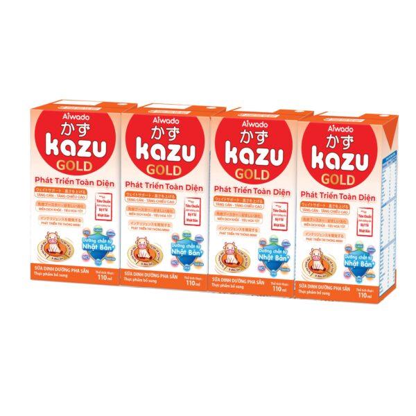 [AIWADO] Thùng sữa bột pha sẵn Kazu Gold Phát Triển Toàn Diện 110ml - 48 hộp (cho bé trên 12 tháng tuổi) 1